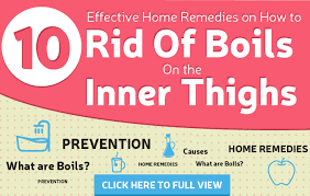 get rid of boils on the inner thighs