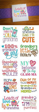Grandma Embroidery Designs Grandparent Sayings Embroidery Machine Embroidery Gifts