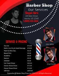 barber flyer customizable design templates for barbershop postermywall