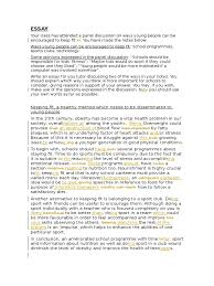 essay keeping fit corrected nutrition adolescence