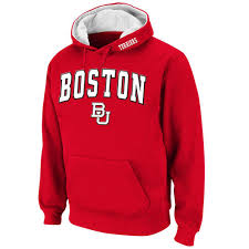 york university hoodie. boston university stadium athletic arch \u0026 logo pullover hoodie - scarlet york e
