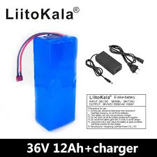 <b>LiitoKala 36V 12AH</b> Electric Bike Battery Built in 20A BMS Lithium ...