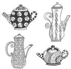 Zentangle Teapots By Kirsty Jayne Goddard