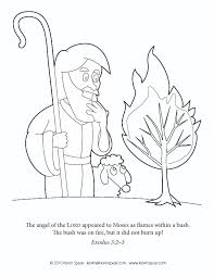 Small Picture Cool Moses And The Burning Bush Coloring Page 5978 Unknown