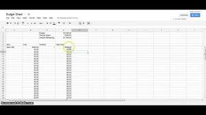 Google Spreadsheets Budget Template Google Docs Tutorial Budget Spreadsheet