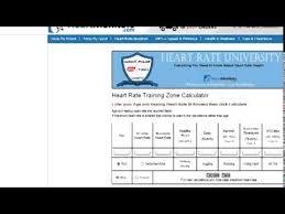 Aerobic Heart Rate Zone Chart Calculator Youtube