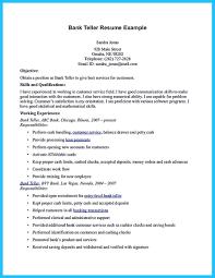 Objective For Banking Resume Study Customer Service Bank Teller