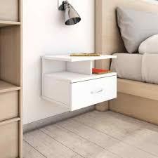 vidaxl floating nightstand white