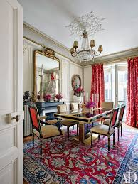 Centralazdining Red Dining Room Rugs With Alluring Designer In Architectural Digests 5  Best Rooms April 2016