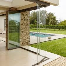 frameless glass stacking doors
