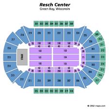 Resch Center Green Bay Tickets Schedule Seating Chart