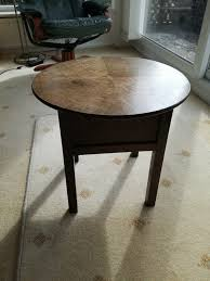 vintage sewing box table with hinged top lid shabby chic opportunity
