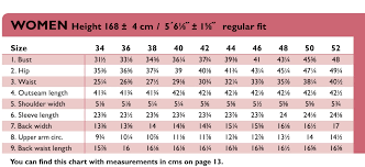 The Ottobre Design Blog Womens Size Chart In Inches