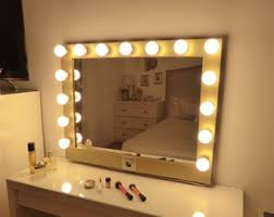 Mirror with lighting Rustic Hollywood Lighted Vanity Mirrorlarge Makeup Mirror With Lightsperfect For Ikea Malm Vanity bulbs Not Included Useuuk Plugs Available Battle Born Hydroponics Hollywood Lighted Vanity Mirrorlarge Makeup Mirror With Etsy