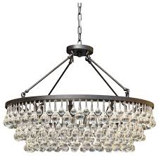celeste 10 light glass and crystal chandelier 32in diameter black