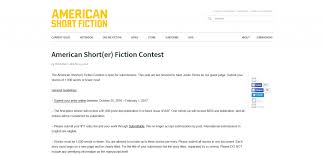best writing competitions that you can enter and win image of the webpage for the american short er fiction contest