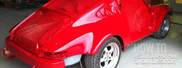 how to re and apply paint to your classic car