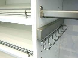 closet rod hooks pull out closet rod ies organizers railings hooks and retractable closet rod hardware closet rod