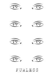 artist blank template vector ilration se makeup template makeup eye template open eyes