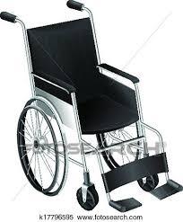 車椅子 クリップアート切り張りイラスト絵画集