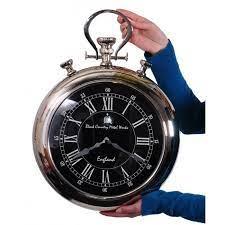 metal works stop watch style clock