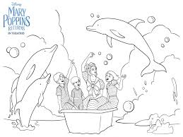Dolphin Dream Designs Coloring Book Mary Poppins Returns Bath Adventure By Bare Tree Media On