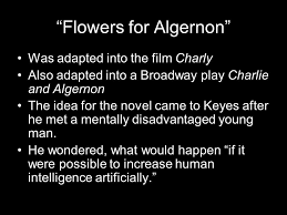 flowers for algernon rdquo by daniel keyes about the author daniel 3 ldquoflowers for algernonrdquo