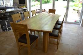 chunky solid oak 8 seater dining set table