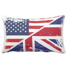 British And American Flags Pillows Decorative & Throw Pillows