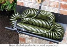coil garden hose. Drinking Water Safe Coiled Garden Hose And Sturdy Holder- Holds Up To Coil
