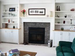 image of modern fireplace mantel shelves