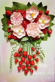 Paper Quilling Rose Flower Basket Quilling Flowers Bouquet Cool Like This Item With Quilling Flowers