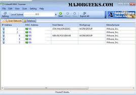 Address Database Software Free Colasoft Mac Scanner Free Is A Fast Ip Mac Address Scanner Majorgeeks