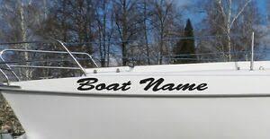 Details About Custom Boat Name Speed Pontoon Fishing Vinyl Decal Lettering Pontoon Jet Skies