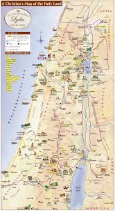 holy land map  lydia tours and travel