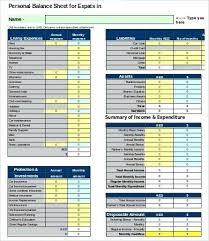 Sample Personal Balance Sheet Free Balance Sheet Template Sample Personal Finance Example