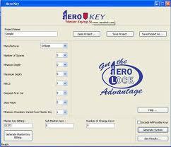 Aero Key Master Keying With Pinning Chart Standard Locks Ak1