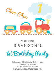 First Birthday Invitations Free Printable 1st Birthday Train Birthday Invitation Template Free In