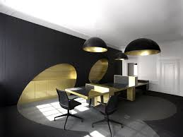 office chandelier lighting. Interior: Black Round Chandelier On Plain Ceiling Under Office Table Nice Floor Right For Lighting