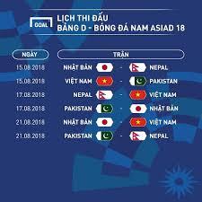 Lịch thi đấu bóng đá hôm nay 25/5: Lịch Thi Ä'ấu Của U23 Việt Nam Tại Asiad 2018