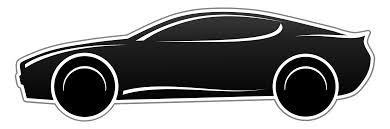 car clipart black and white. Unique White Fast Car PNG Black And White Transparent  Clip With Clipart