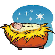 Free jesus christ icons in wide variety of styles like line, solid, flat, colored outline, hand drawn and many more such styles. Starry Night Baby Jesus In A Manger Clipart Commercial Use Gif Jpg Eps Svg Clipart 142908 Graphics Factory