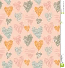 Romantic Cute Pattern With Hearts Doodle Heart Abstract