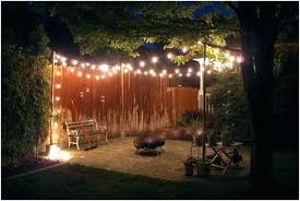 poles for outdoor string lights remarkable porch backyard pole home ideas 8