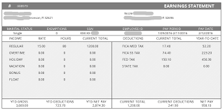 Sample Check Stub Advanced Sample Pay Stub