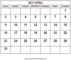 april calendar printable 2017 april calendar