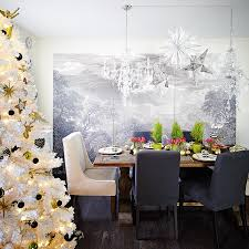 Tree Design Wallpaper Living Room Holiday Decorating With Designer Amanda Forrest Canadian Living