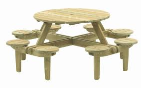 round picnic table plans for beautiful bench square wood of glass portray