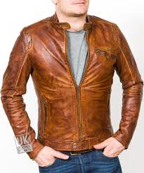 ens vintage tan leather biker jacket echo main
