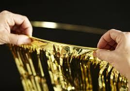 diy gold fringe chandelier